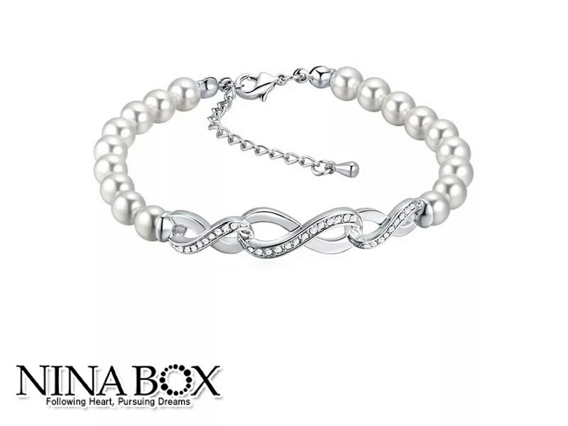 Ninabox®  'Infinity' алка (со Swarovski елементи)!