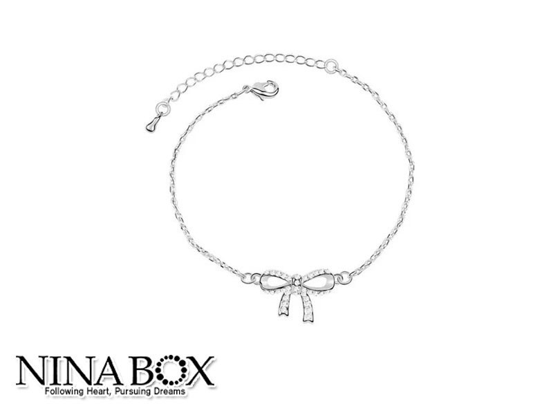 Ninabox®  'BOW' алка (со Swarovski елементи)