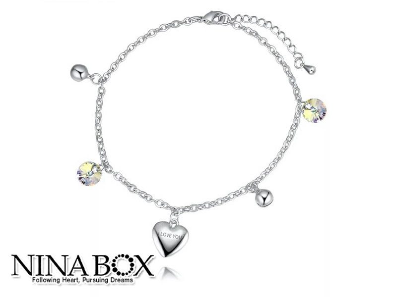 Ninabox®  'LOVE' алка (со Swarovski елементи)
