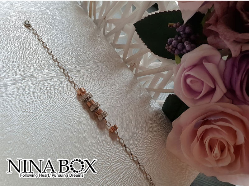 Ninabox®  'Charms' алка (со Swarovski елементи)