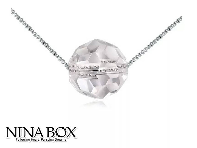 "Ninabox® ""Clear cristal"" ланче (со Swarovski елементи)"